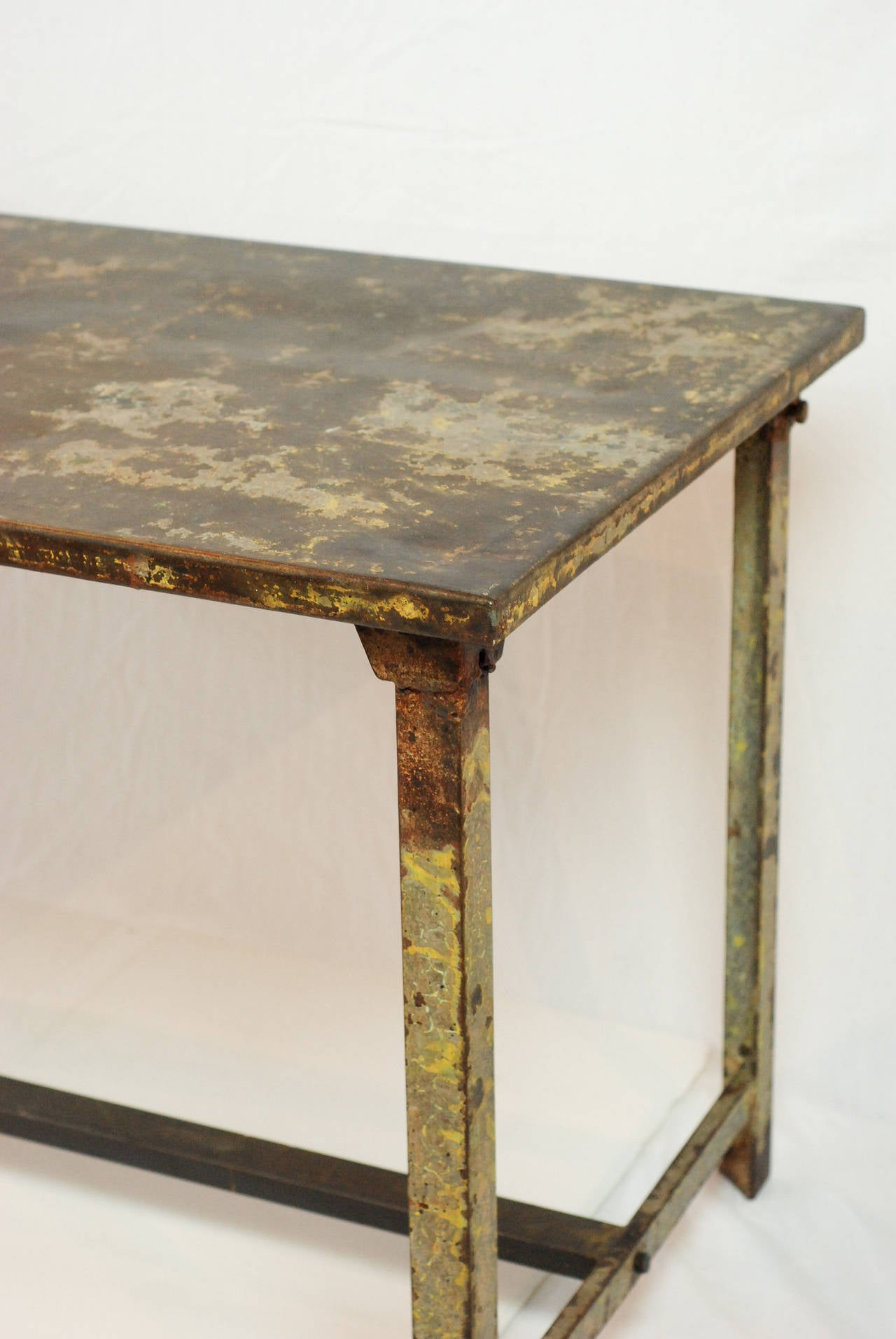 Vintage French Iron Military Table For Sale At 1stdibs