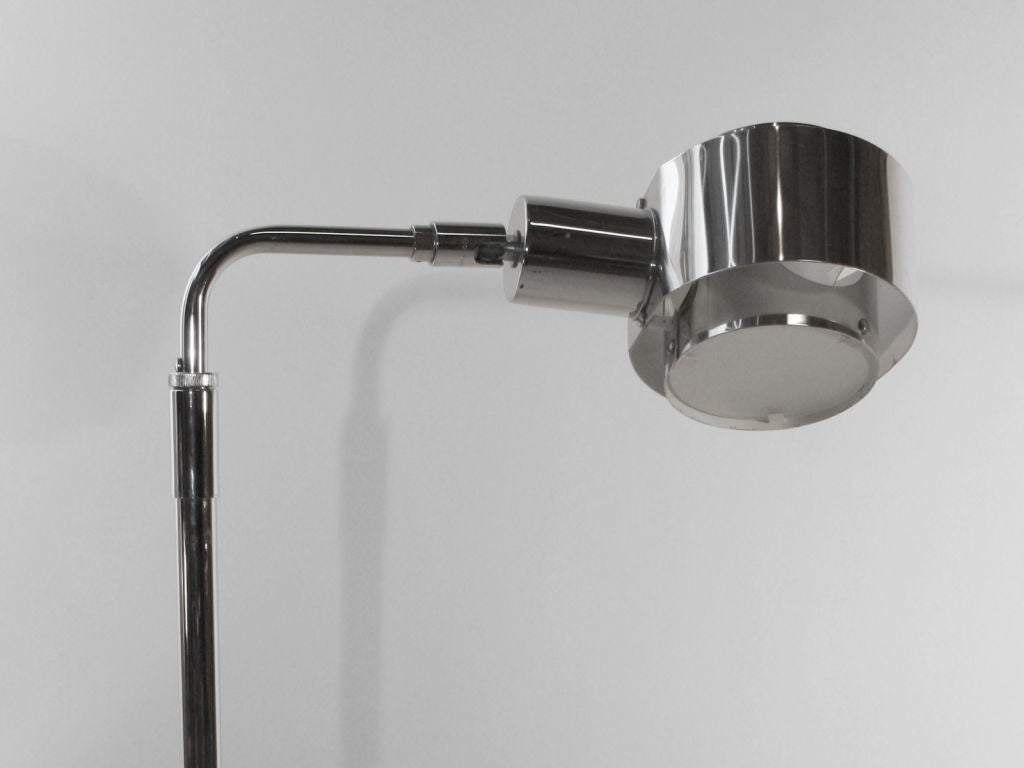 Really Bright Floor Lamp Chrome 1970 39s Adjustable Floor Reading Lamp At 1stdibs