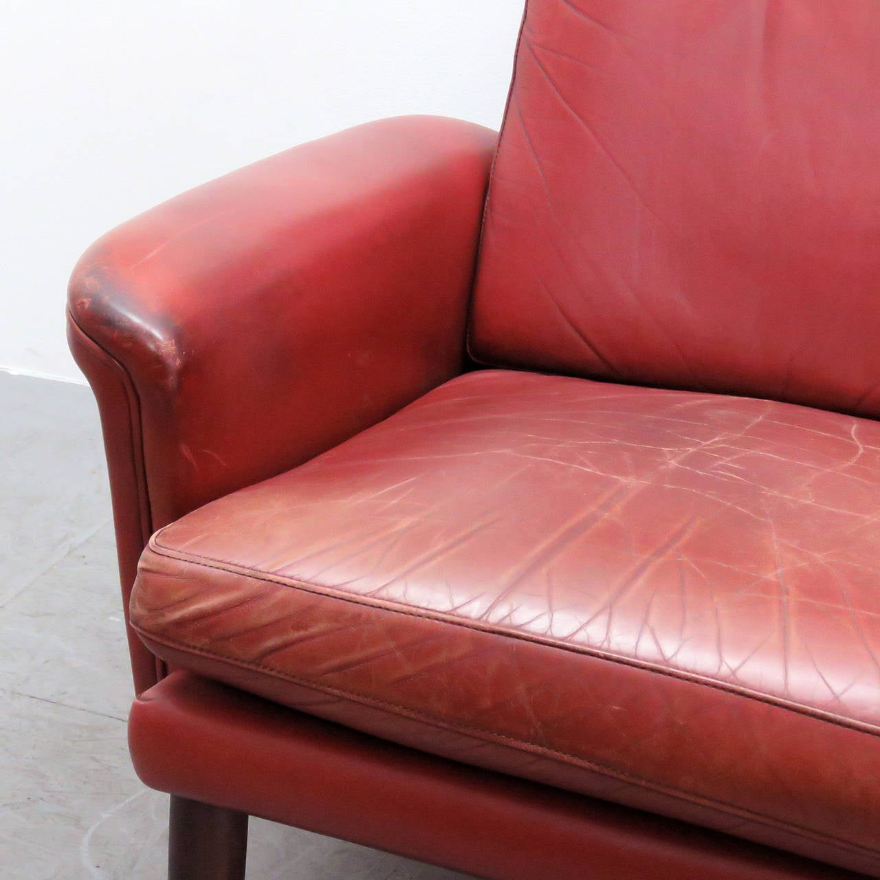 Danish High Back Leather Lounge Chair For Sale At 1stdibs - Leather High Back Lounge Chair