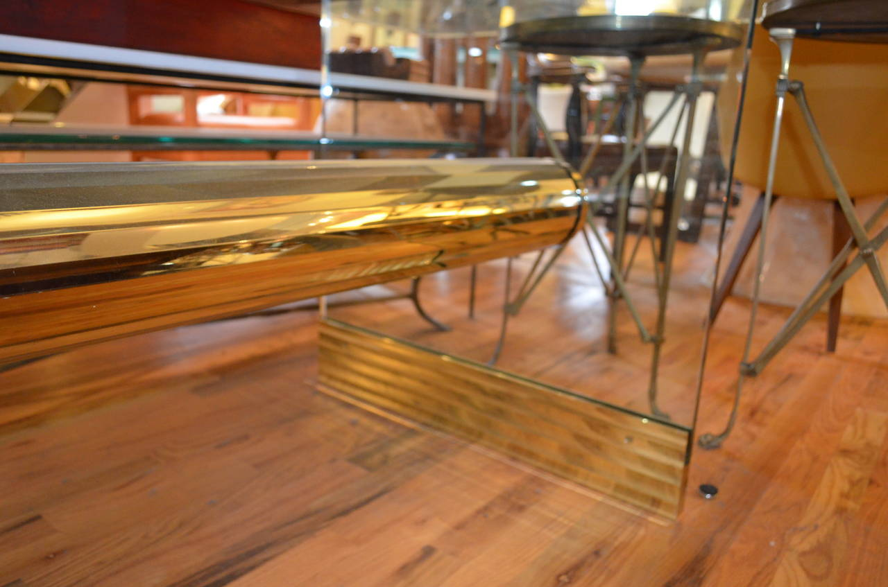 Long Dining Table For Sale Monumental Long Glass Pace Dining Table Or Desk For Sale