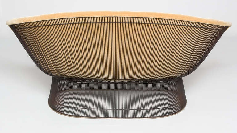 Seat And Sofas Krefeld Warren Platner Settee For Knoll At 1stdibs
