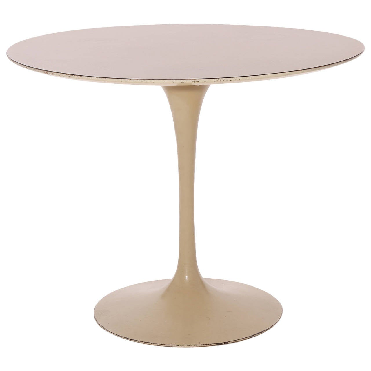 Tulip Tisch Early Iron Base Tulip Dining Table By Eero Saarinen At 1stdibs
