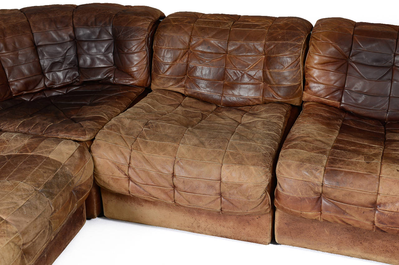 Patchwork Sofa Seven Section Leather Patchwork Sofa By De Sede