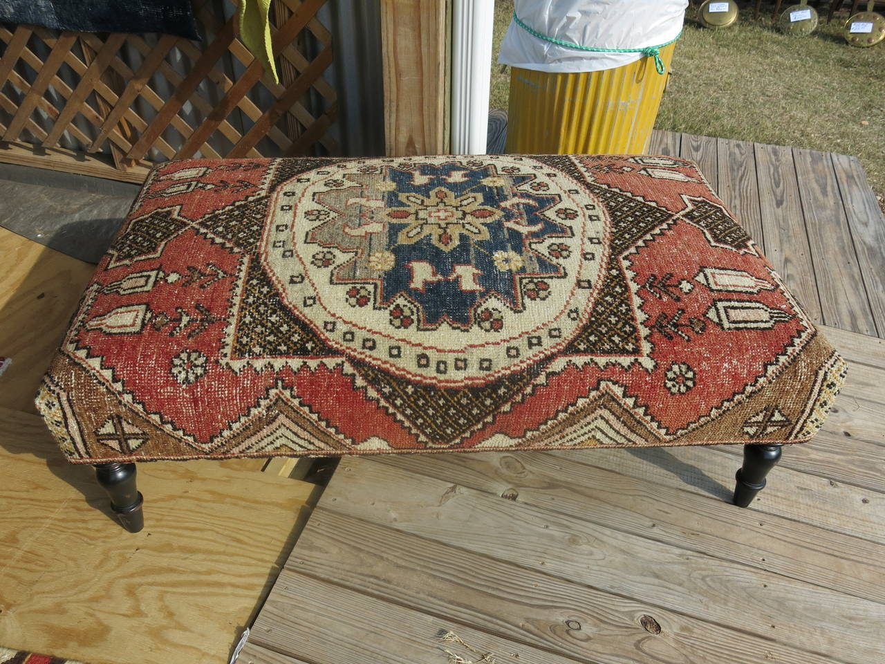 Turkish Rug Ottoman At 1stdibs