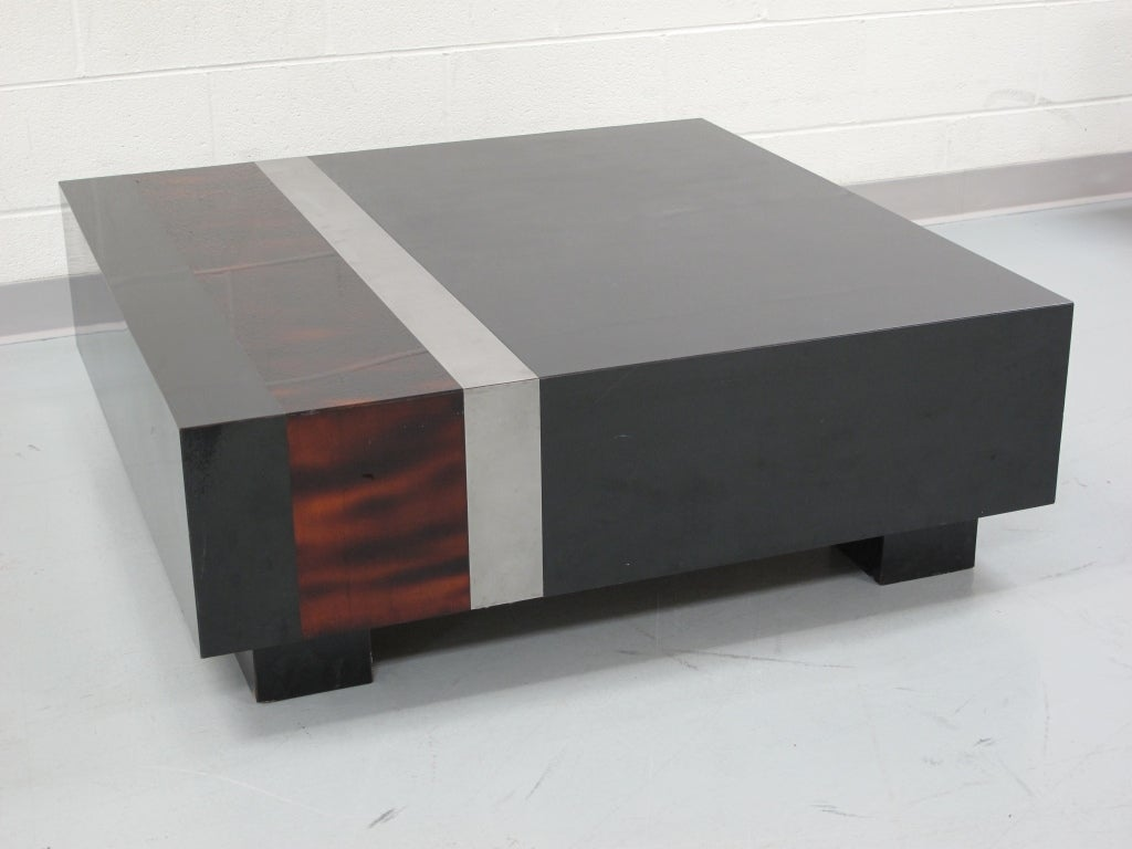 Low Black Table Square Low Black Lacquer And Faux Tortoise Coffee Table At