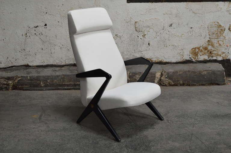 Swedish Mid Century High Back Lounge Chair By Bengt Ruda