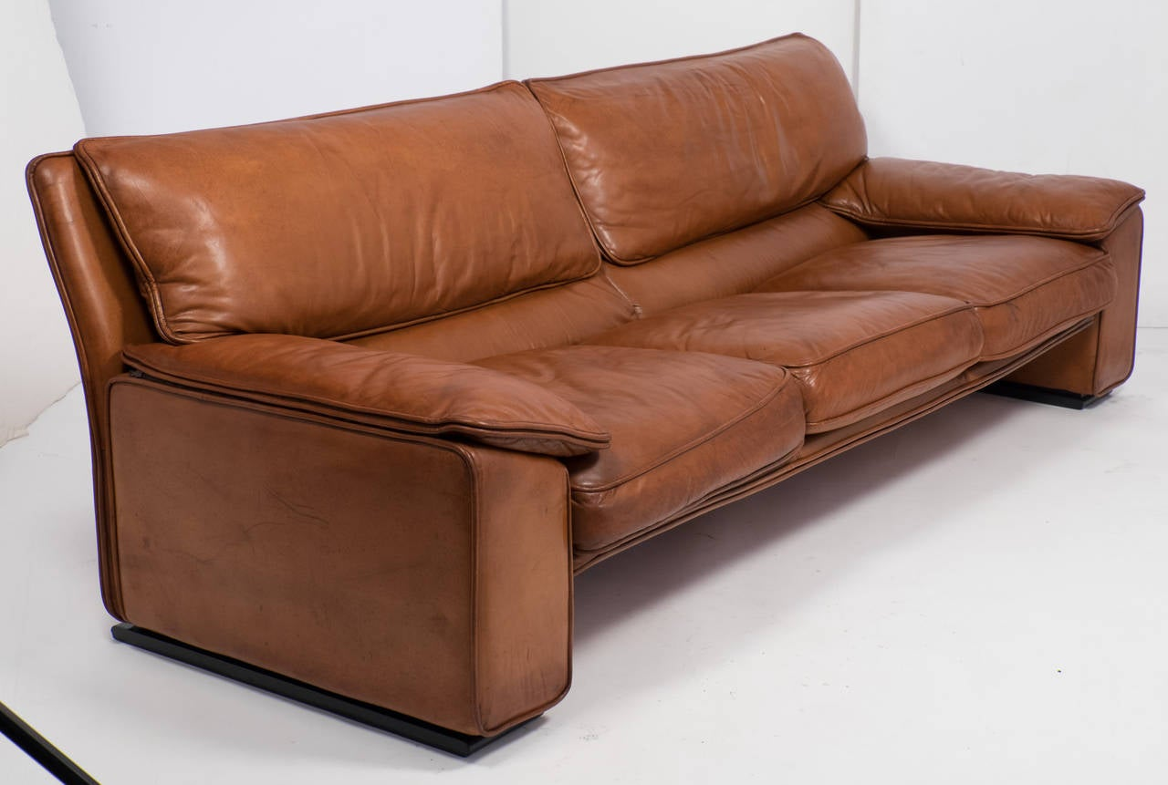 Vintage Ledersofa Superb Italian Vintage Leather Sofa By Ferrucio Brunati