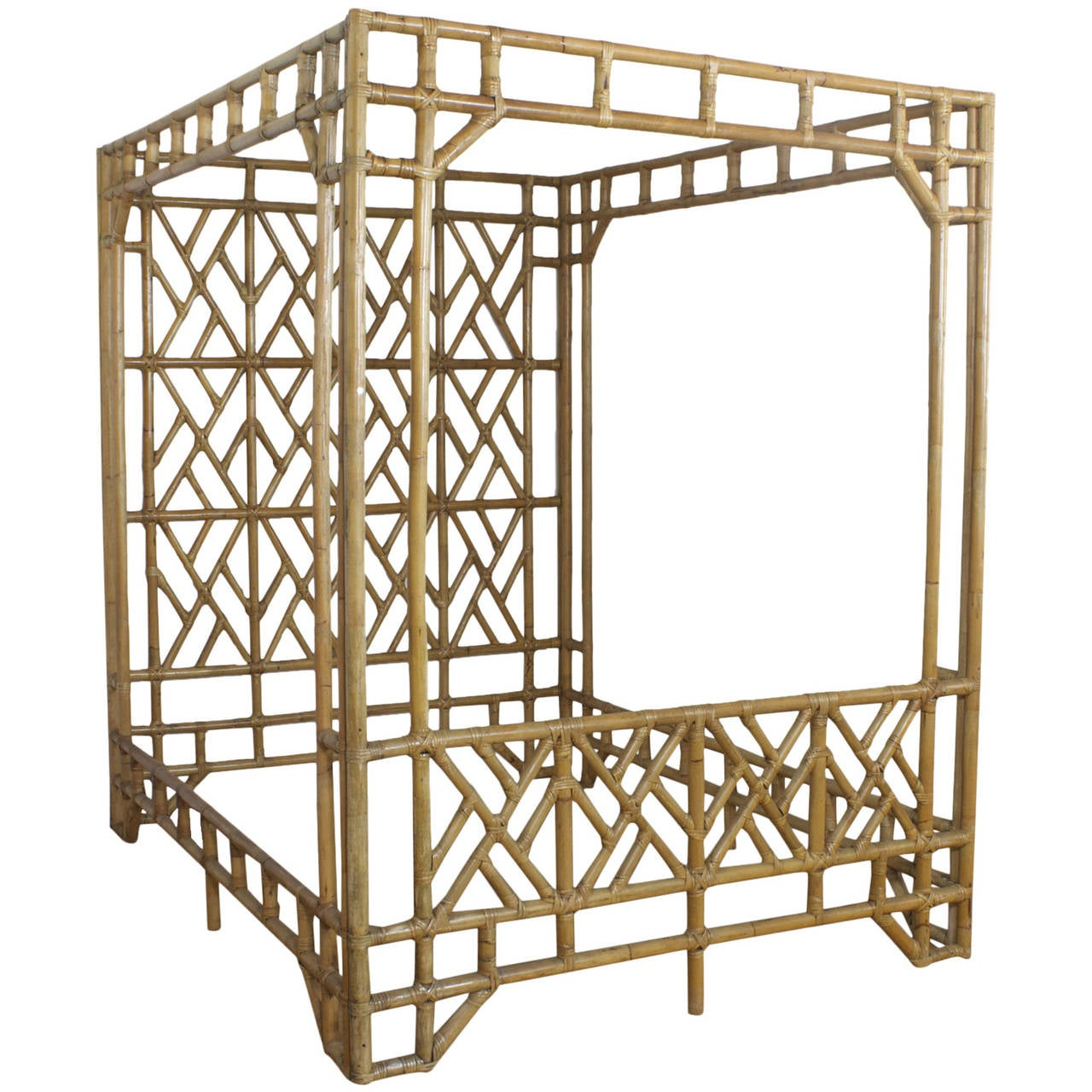 Canopy Bed Frame Chinese Chippendale Bamboo Canopy Queen Size Bed Frame At