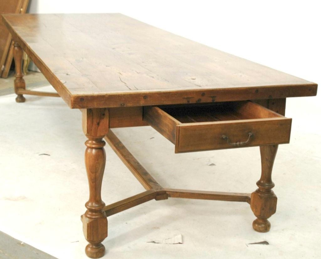 10 Foot Dining Table English 20th Century 10 Foot Chestnut Dining Table At 1stdibs