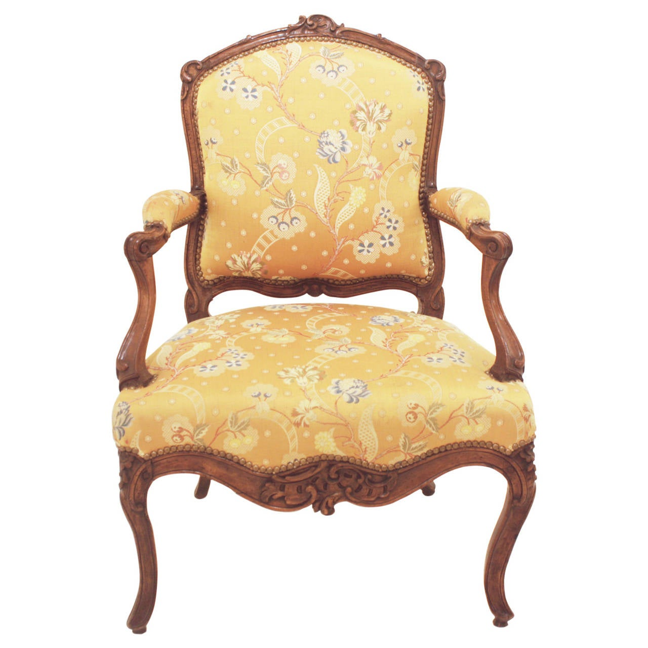 Fauteuils Style Louis Xv Louis Xv Period Walnut And Upholstered Fauteuil