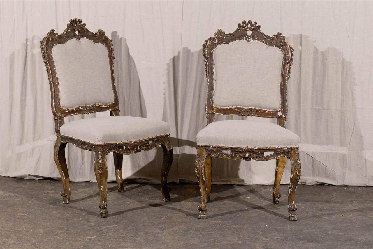 Pair Of Italian Ornate 18th Century Venetian Style Side