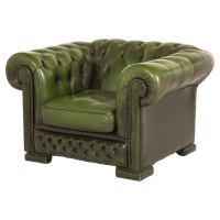 Vintage Green Chesterfield Chair at 1stdibs