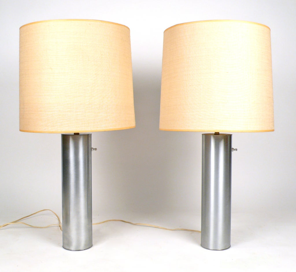 Ultra Modern Table Lamps Brushed Nickel Nessen Lamps At 1stdibs
