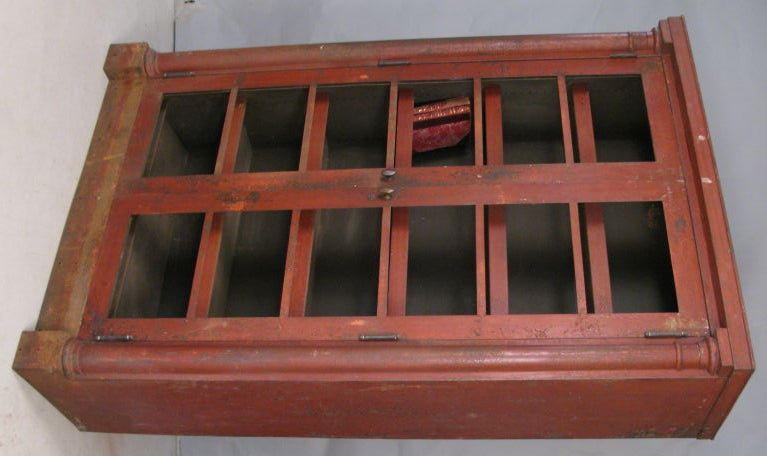 Antique 19th Century Steel Ship Captain39s Empire Bookcase