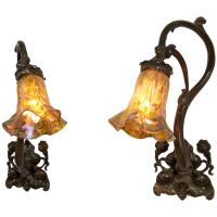 Pair of Art Nouveau Sconces at 1stdibs