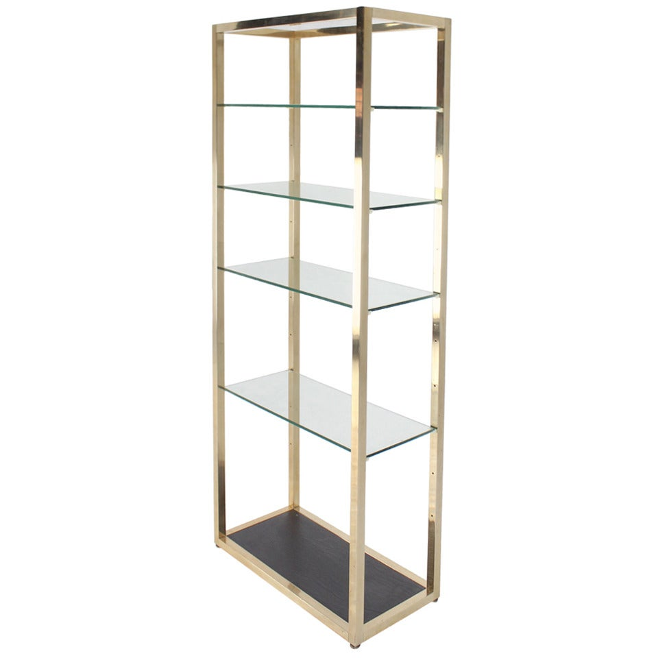 Etagere Metal Mid Century Modern Glass And Metal Etagere
