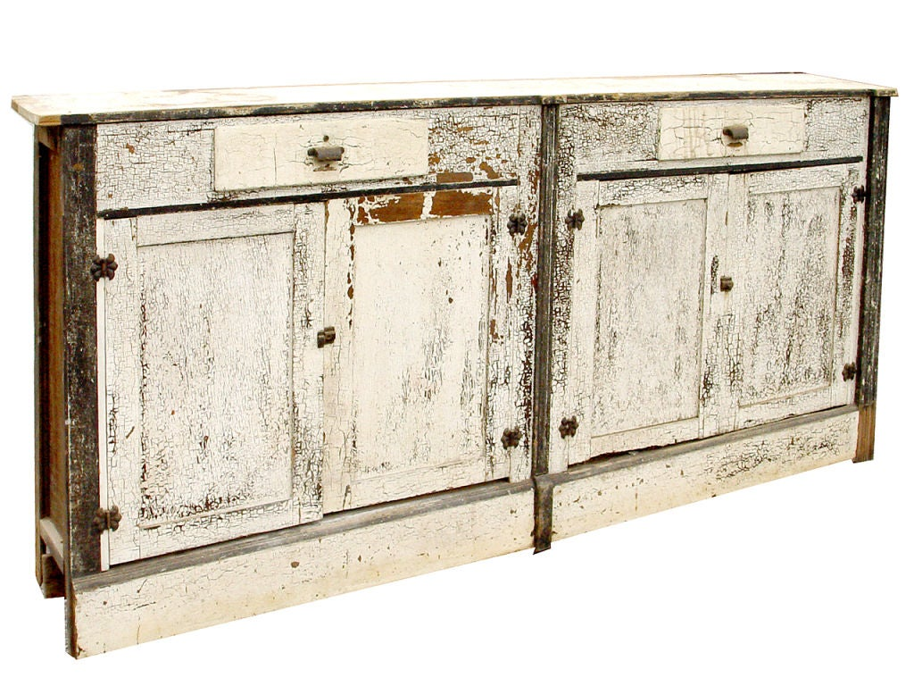 Long Kitchen Wall Cabinets Primitive Eight Foot Long Wall Cabinet At 1stdibs