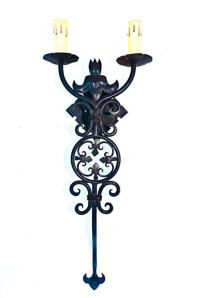 Reproduction Wrought Iron Sconce For Sale at 1stdibs
