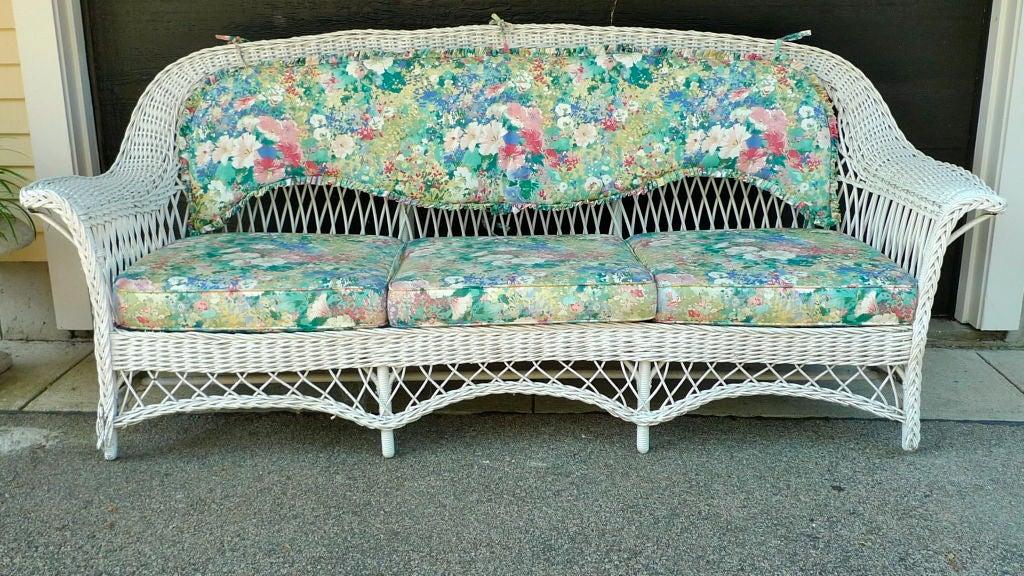 Wicker Sofa Vintage
