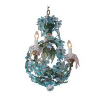 Venetian Cobalt Blue Crystal Beaded Chandelier. Circa 1840 ...