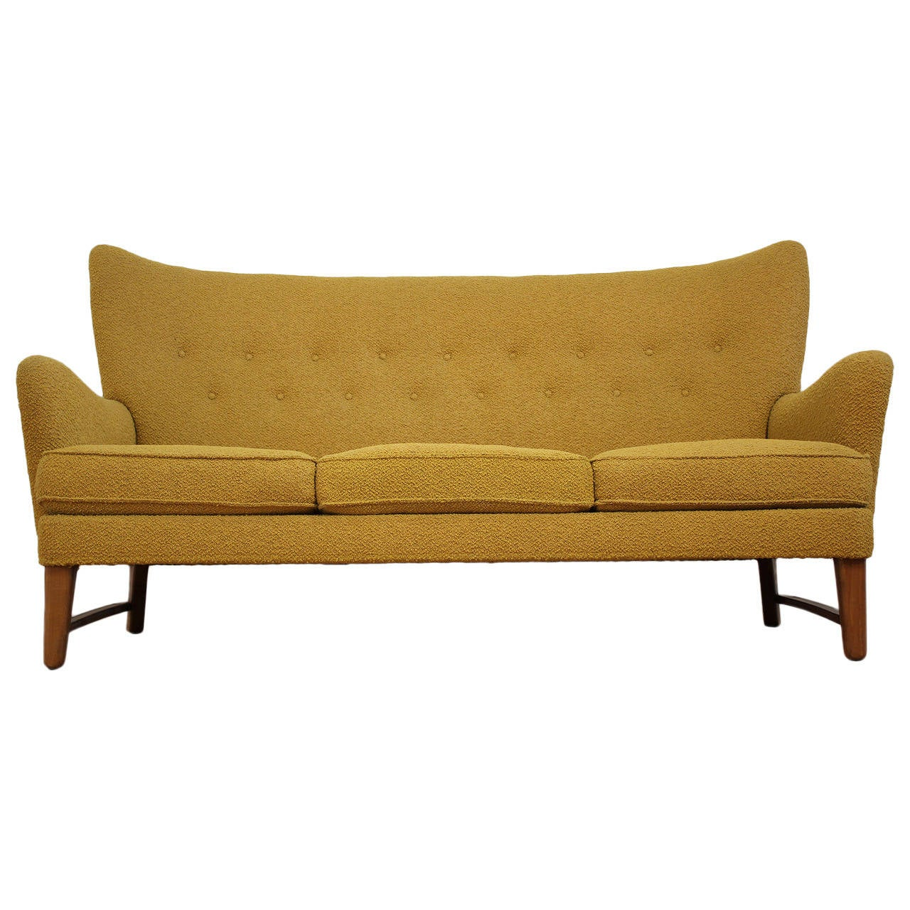 Scandinavian Furniture San Diego Early Scandinavian Wingback Sofa