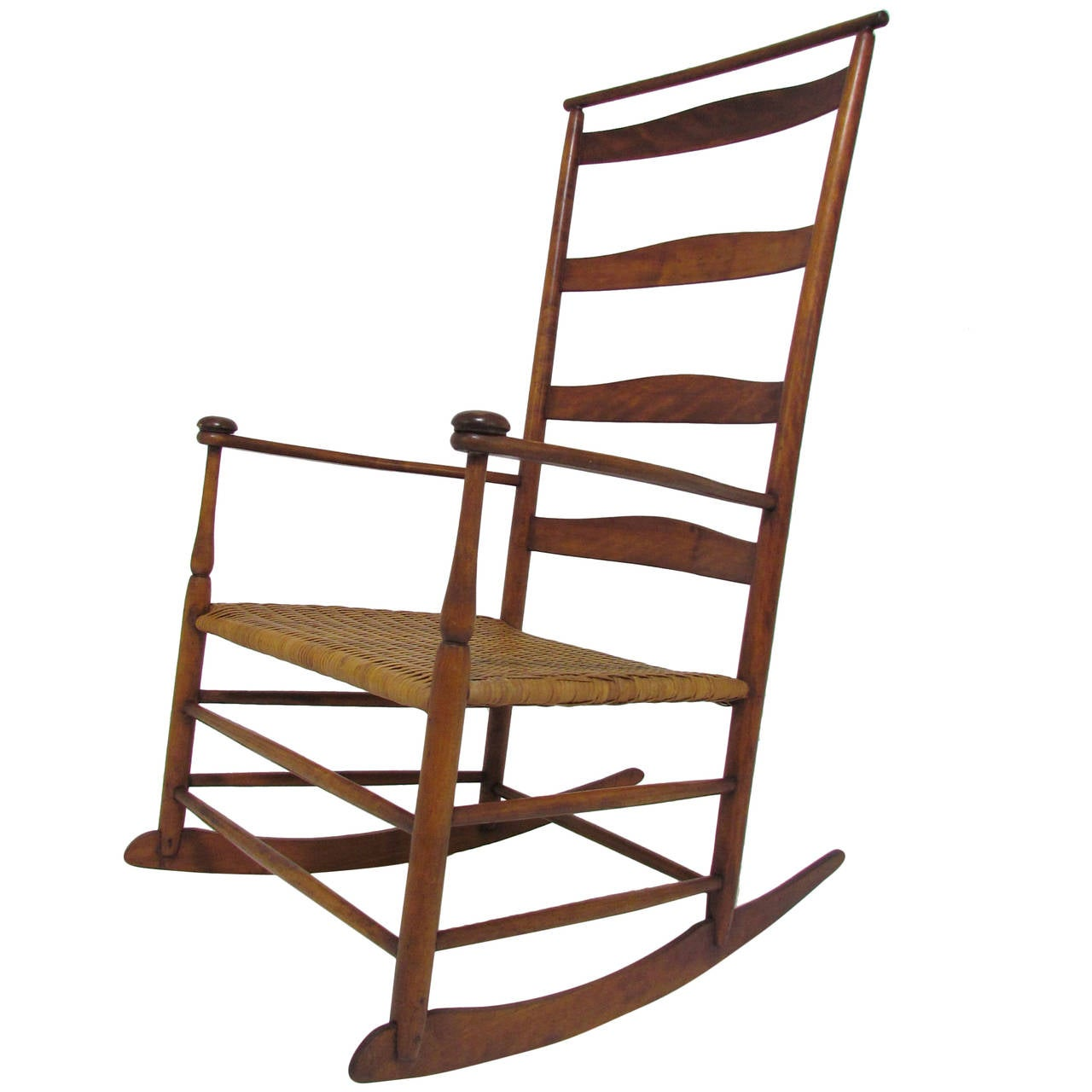 Antique shaker no 7 rocking chair with shawl bar 1