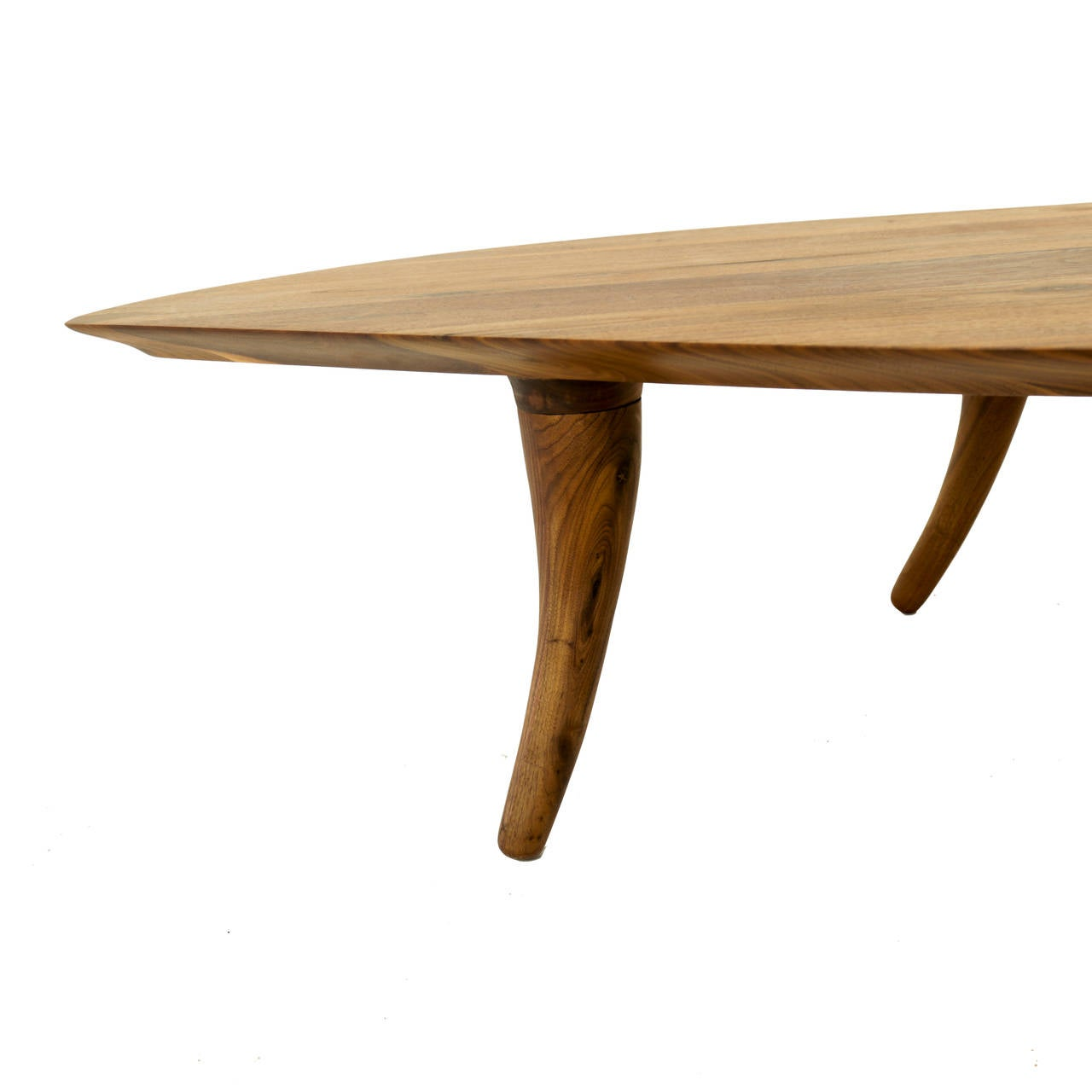 Sculptural Coffee Tables Sculptural Walnut Coffee Table With Curved Legs At 1stdibs