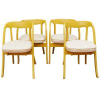 Set of Four Painted Mid-Century Modern Dining Chairs at ...