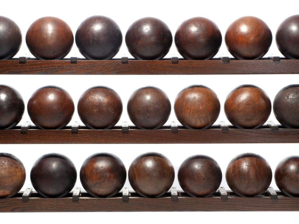 Lignum Vitae 45 Bowling Ball Rack For Sale At 1stdibs