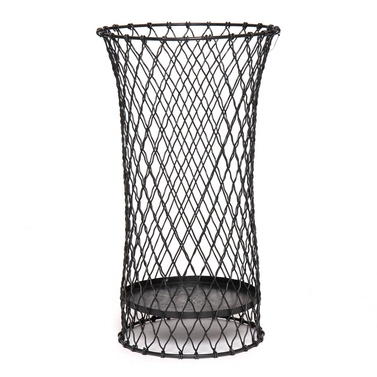 Decorative Metal Waste Baskets Industrial Wire Waste Basket At 1stdibs