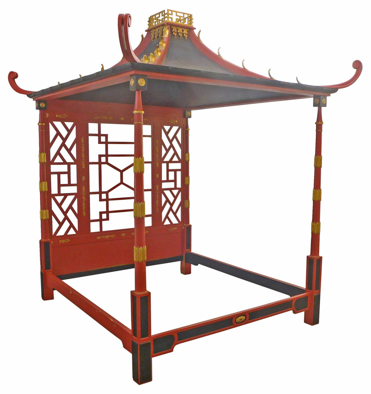 Japanese Canopy Bed Chinoiserie Pagoda Canopy Bed At 1stdibs
