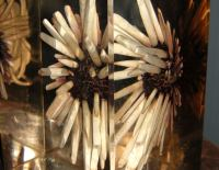 A resin sea urchin table lamp at 1stdibs