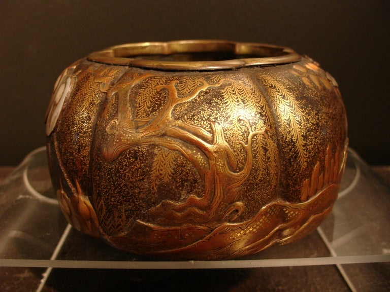 Exceptional Japanese Lacquer Koro At 1stdibs