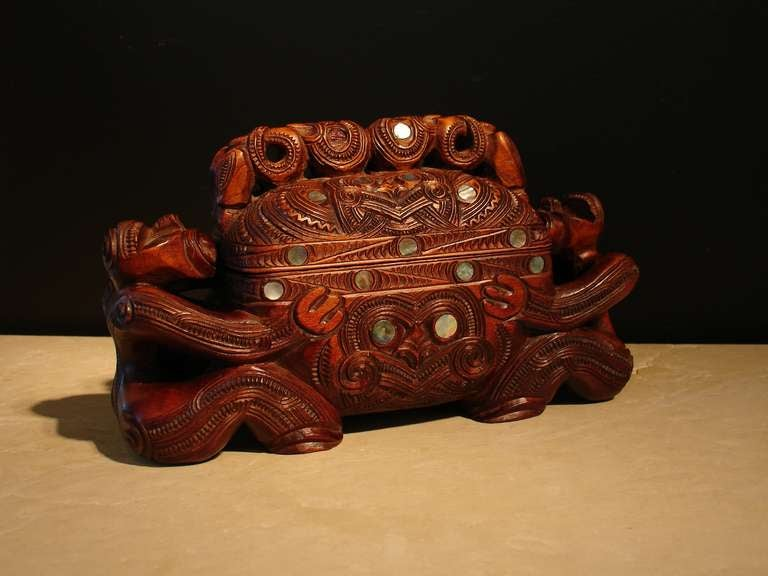 A Carved Maori Treasure Box For Sale At 1stdibs