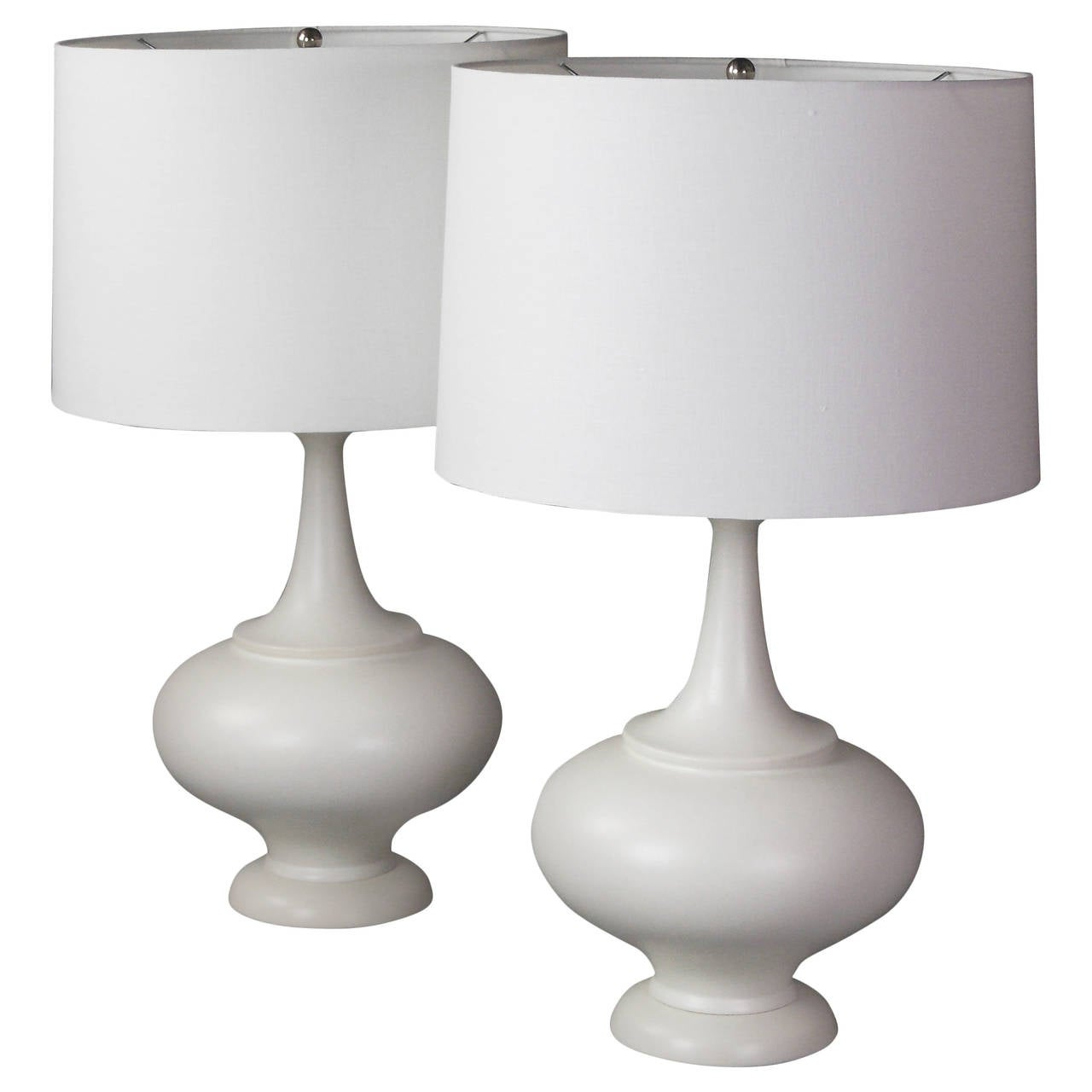 Large Lamps For Sale Pair Of Midcentury Large White Ceramic Lamps For Sale At