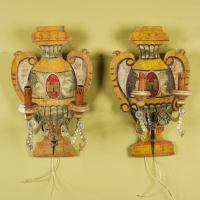 Pair Unusual Italian Sconces at 1stdibs