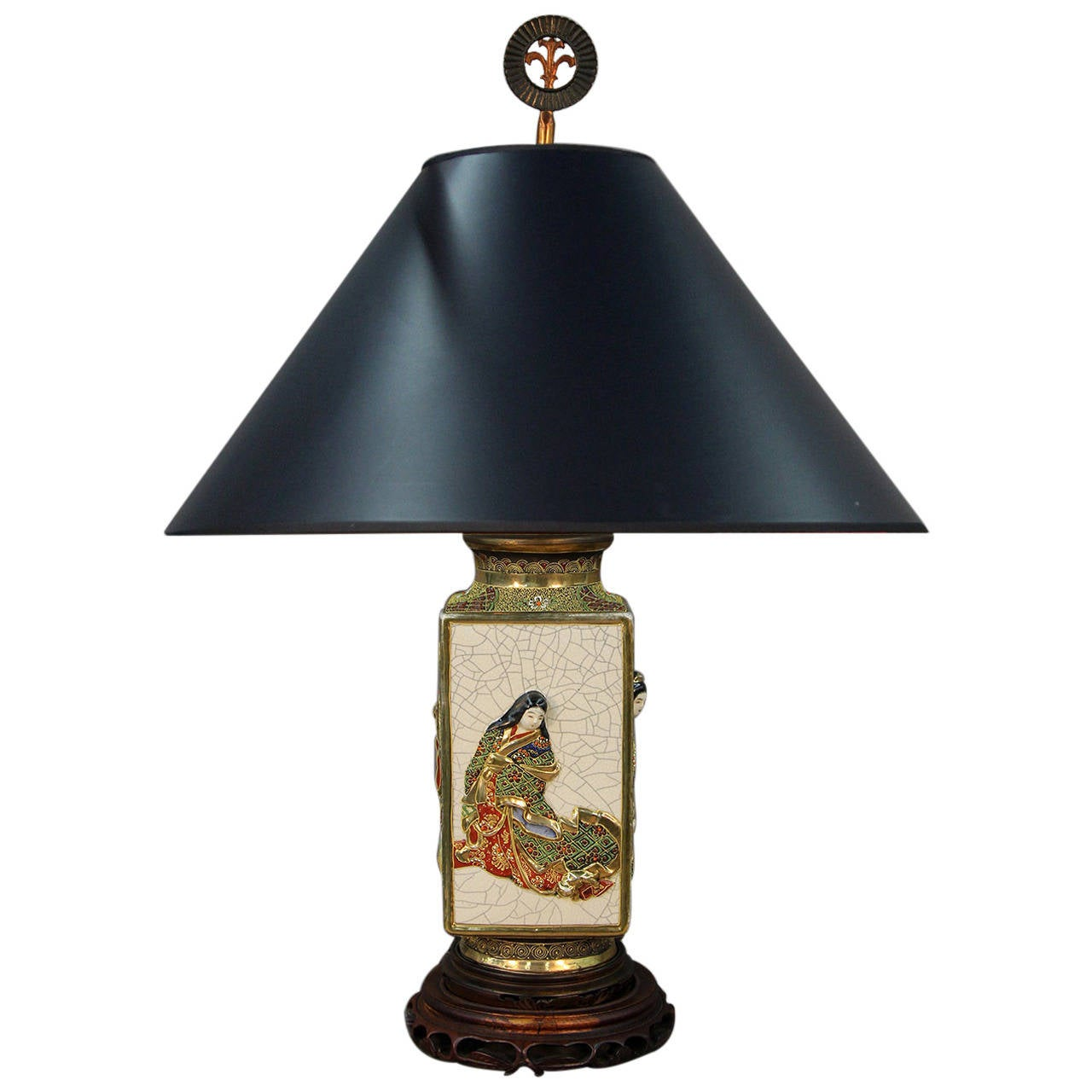Large Lamps For Sale Large 19th Century Satsuma Table Lamp At 1stdibs