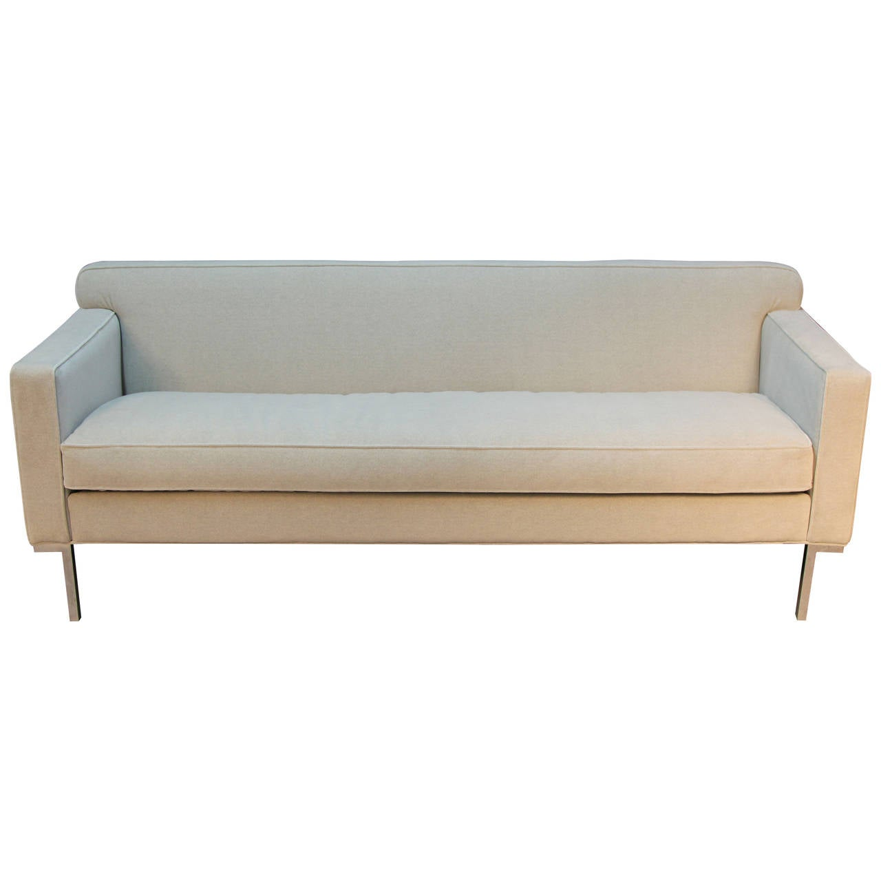 Sleek Leather Couch Sleek And Chic Sofa At 1stdibs