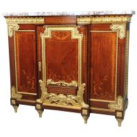 Rare Late 19th Century Gilt Bronze-Mounted Marquetry ...