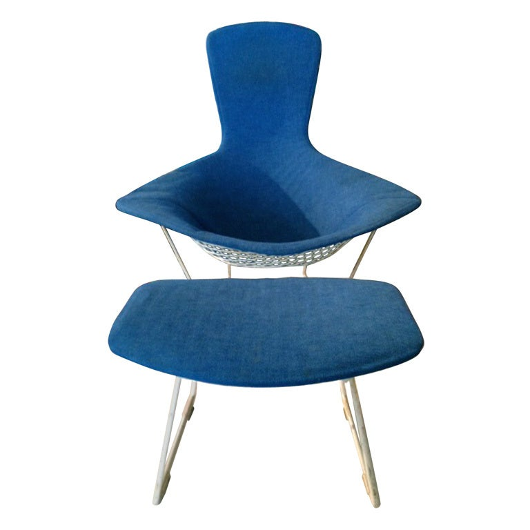 Harry Bertoia Bird Chair And Ottoman Knoll 1952 At 1stdibs