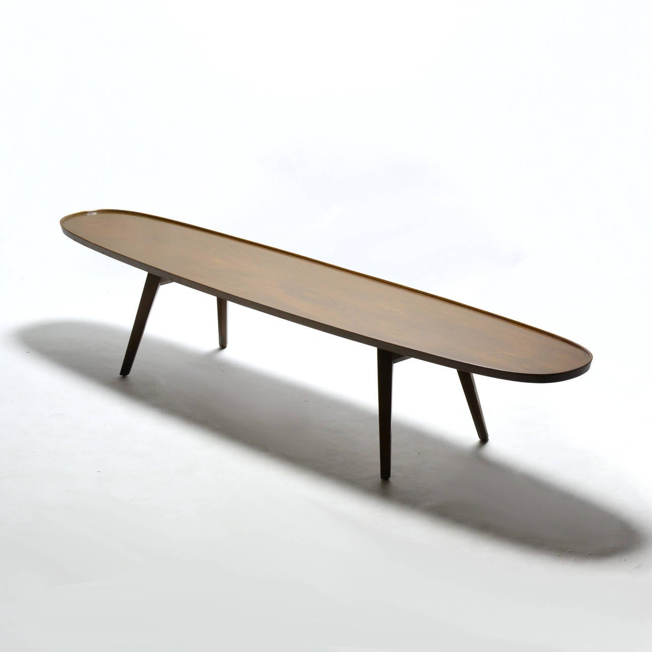 Surfboard Tables For Sale Edward Wormley Surfboard Coffee Table By Dunbar For Sale