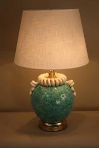 Italian Handmade Pottery Table Lamp For Sale at 1stdibs
