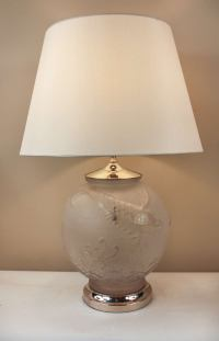 Art Deco Satin Glass Koi Fish Table Lamp at 1stdibs