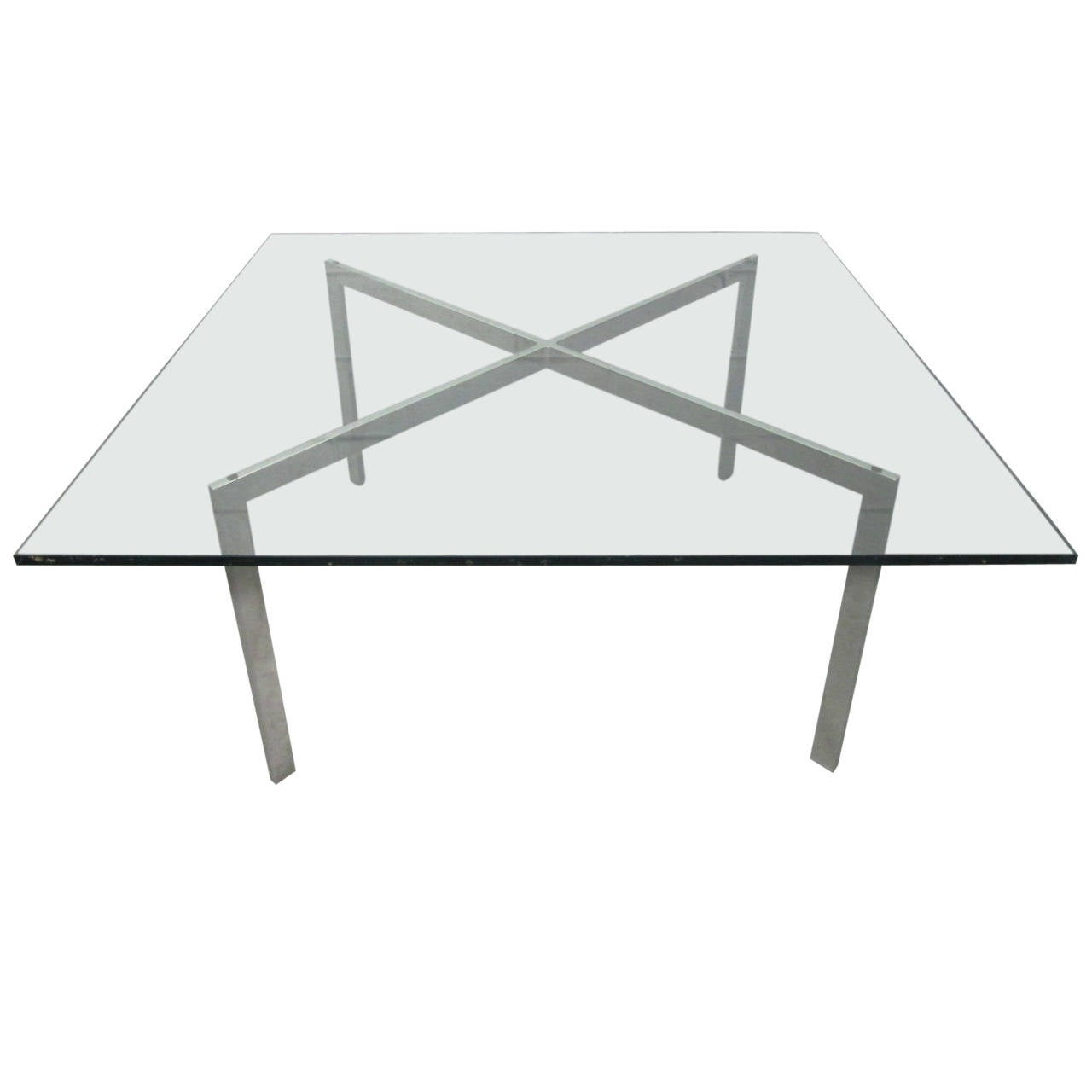 Early Ludwig Mies Van Der Rohe Barcelona Table By Knoll At