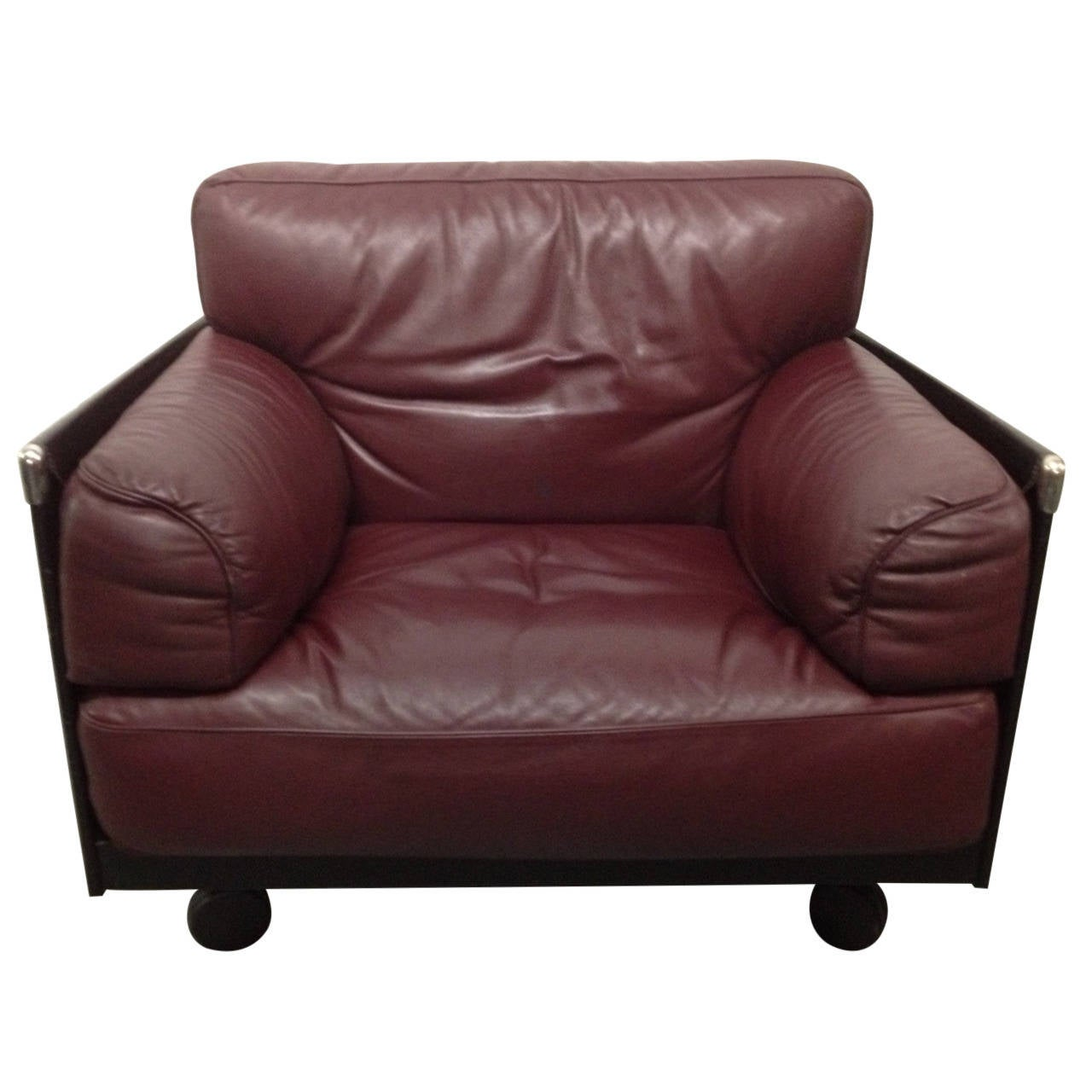 Poltrona Recliner Leather Lounge Chair By Poltrona Frau