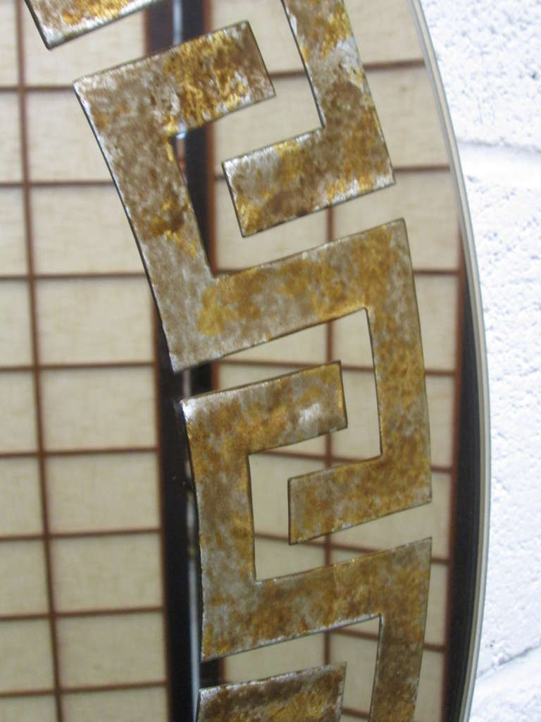Art Deco Furniture New York Reverse Gilt Greek Key Mirror By David Marshall For Sale At 1stdibs