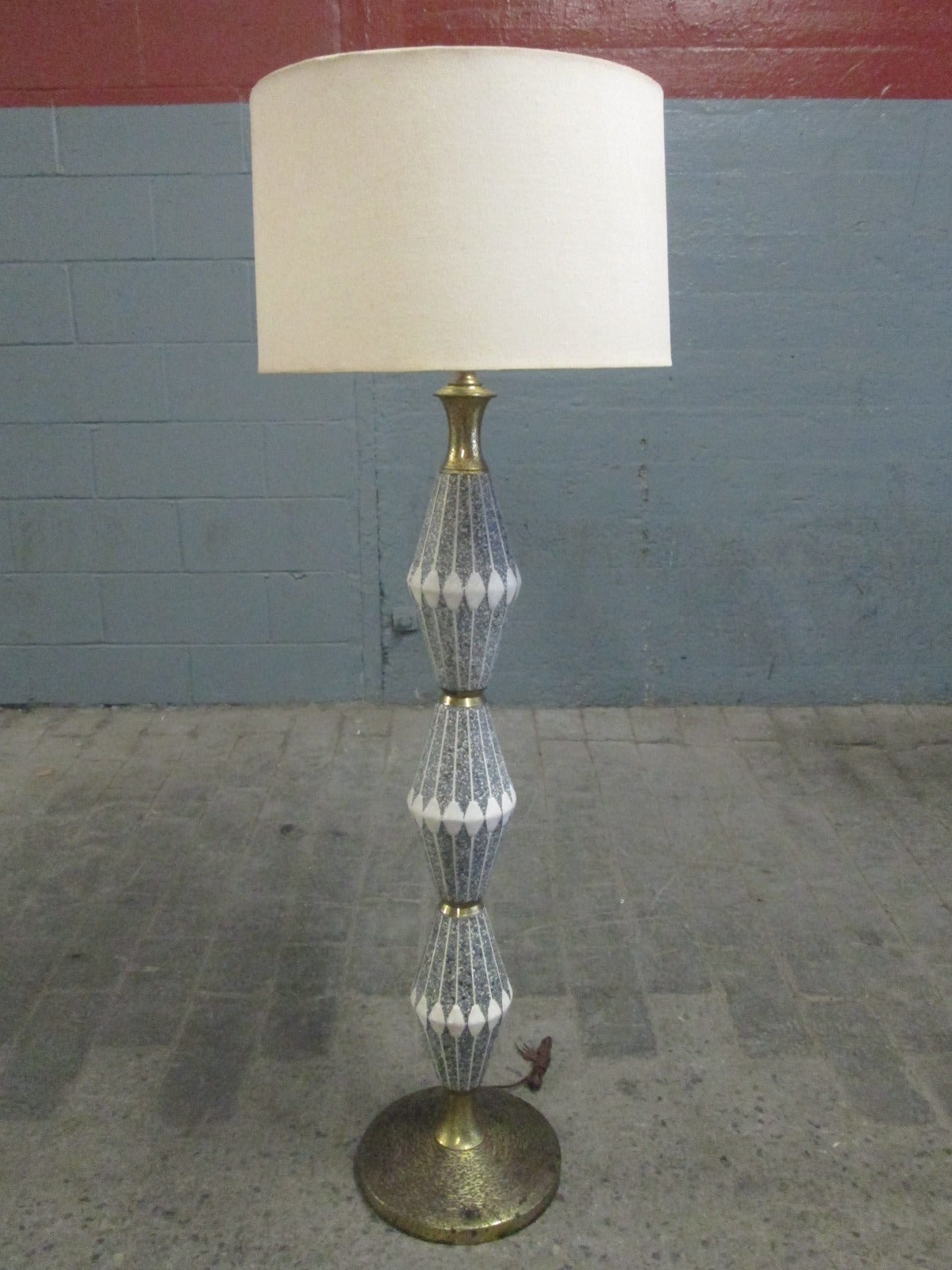 Unique Floor Lamps For Sale Unique Ceramic And Brass Floor Lamp By Gerald Thurston For