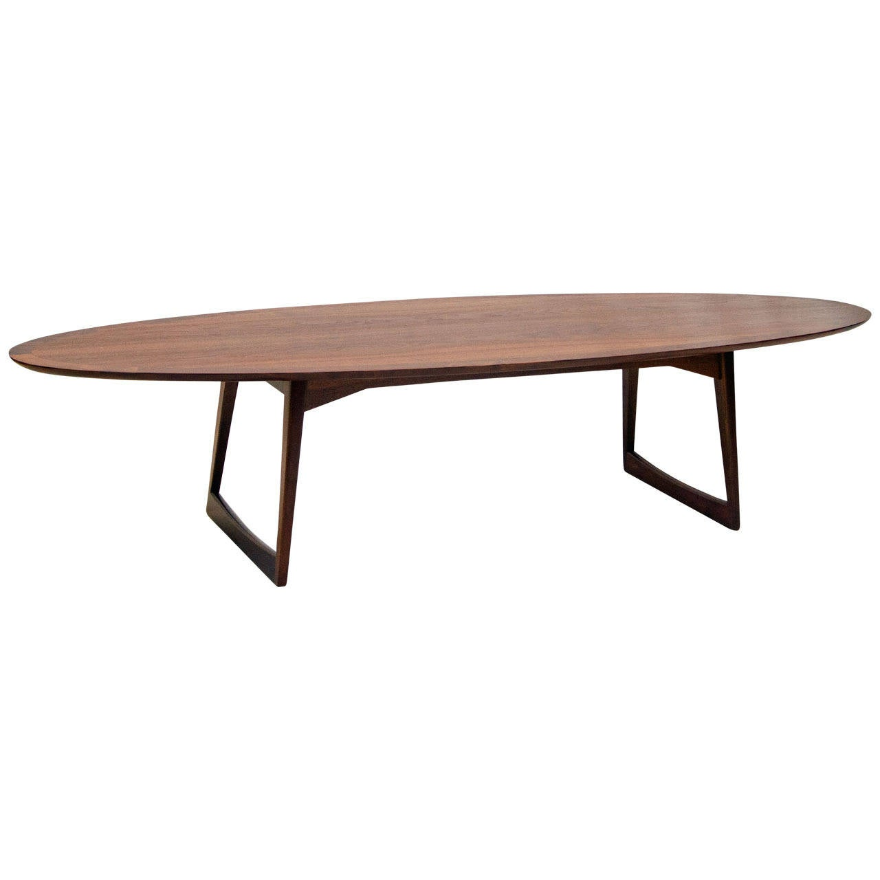 Surfboard Tables For Sale Mid Century Walnut Surfboard Coffee Table Mm Moreddi At