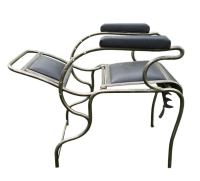 Iron and Stainless Steel Dentist Armchair. For Sale at 1stdibs