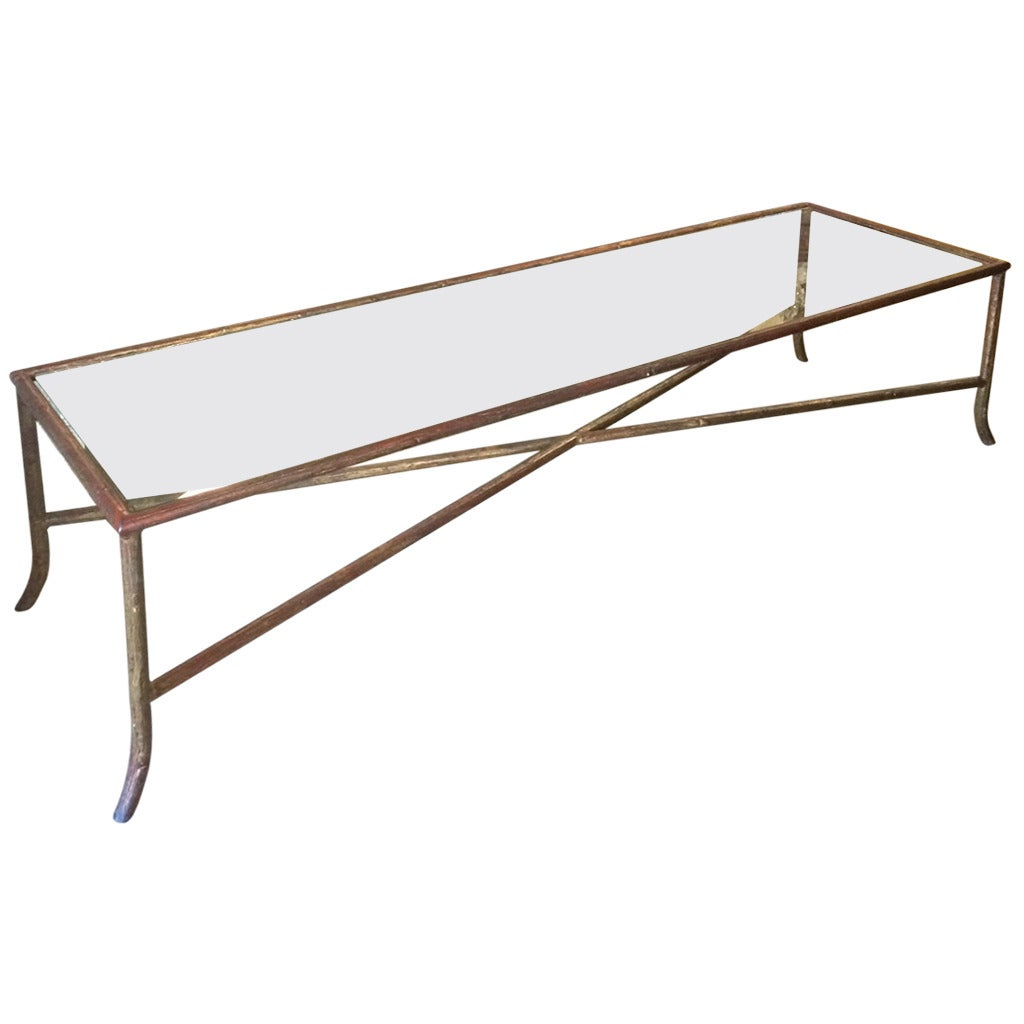 Long Slim Coffee Table Long Narrow Bagues Style Faux Bois Coffee Table At 1stdibs
